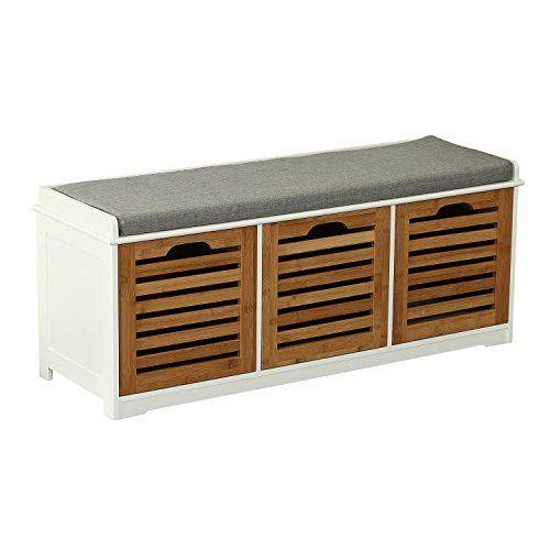 84.95 SoBuy® Banco de almacenamiento con acolchados cojines y 3 ...