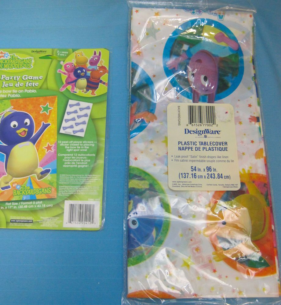 "Nick Jr The Backyardigans Party Game & 54"" X 96"" Plastic"