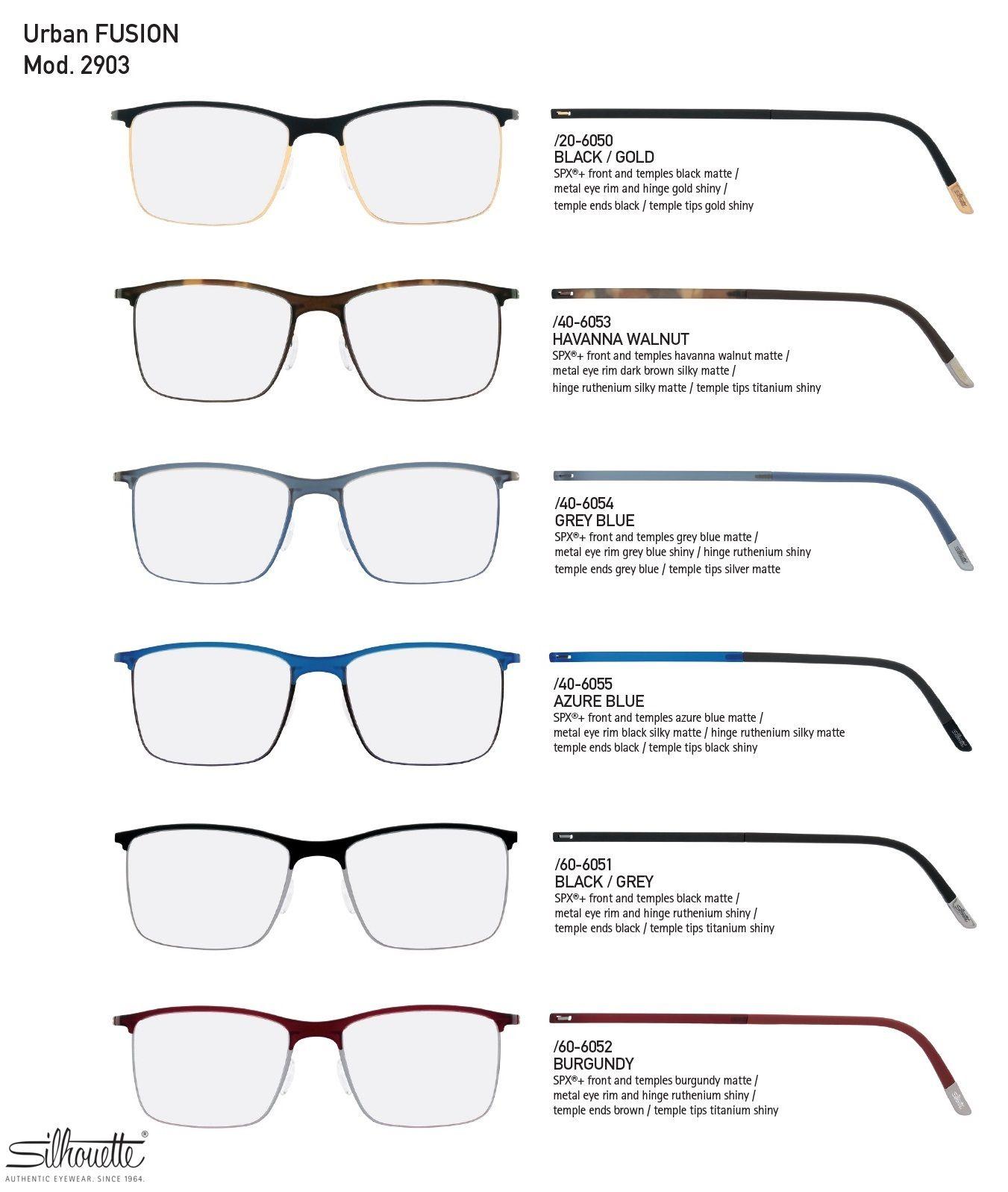 2d46dfde6dda Silhouette Urban Fusion Fullrim 2903 Eyeglasses Fashion Eyewear ...