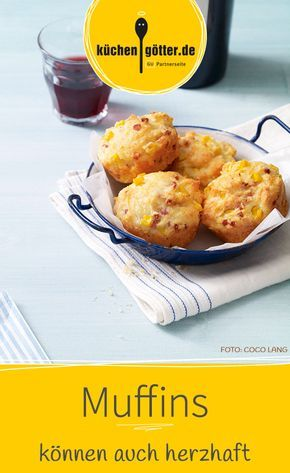 Unser Muffin Rezept ist eine herzhafte Variante des beliebten Klassikers. Und als Snack für den Liebslingsfilm oder die Lieblingsserie perfekt geeignet.