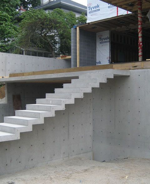cantilevered stair a stair like this on the east elevation would