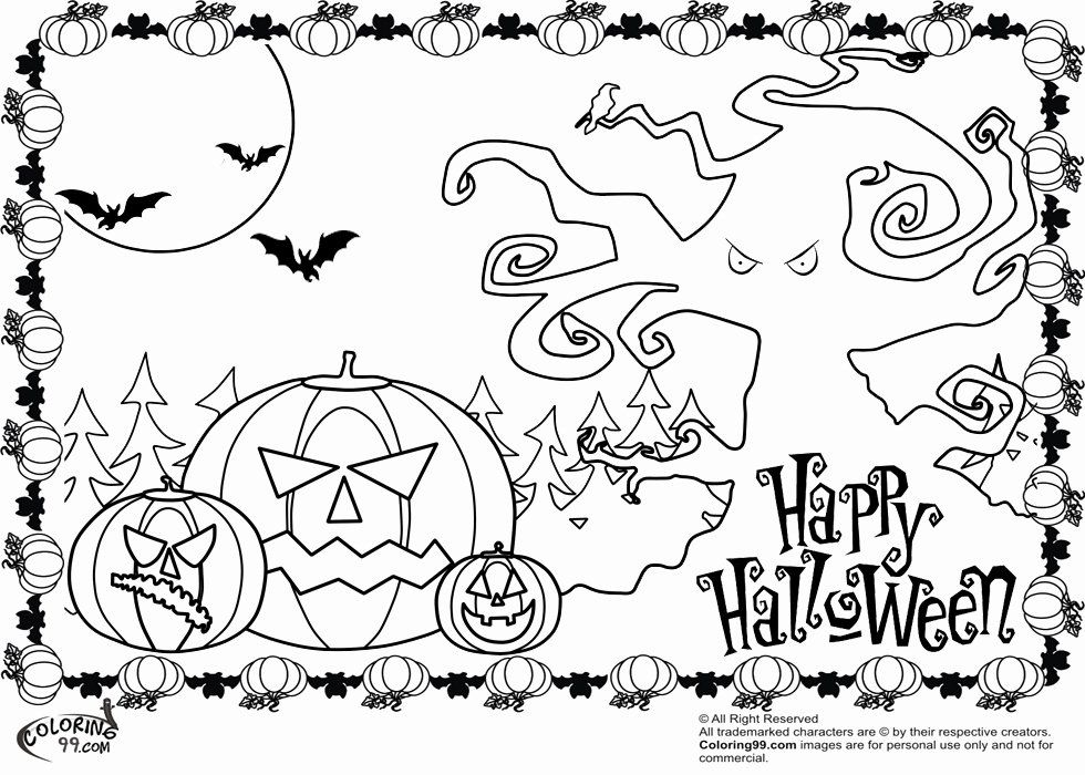 Scary Halloween Coloring Page Unique Scary Halloween ...
