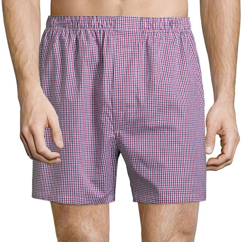 Stafford 4 Pack Woven Cotton Boxers