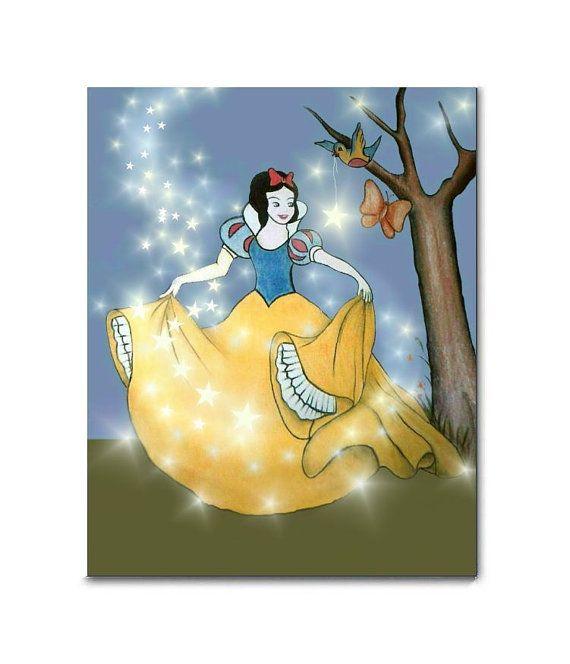 Snow White Nursery, Kids Nursery Decor, Princess Art Print ...