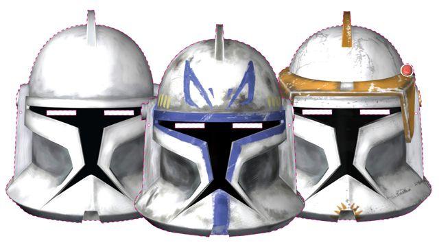 printable Clone Wars masks.