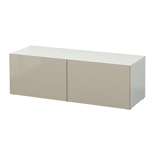 Ikea Besta Türen bestå shelf unit with doors black brown selsviken high gloss black