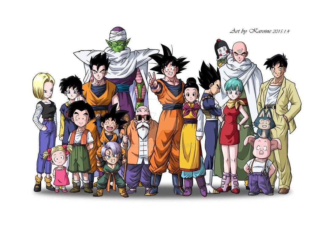Dragon Ball Z Kai Family Photo By Karoine Con Imagenes