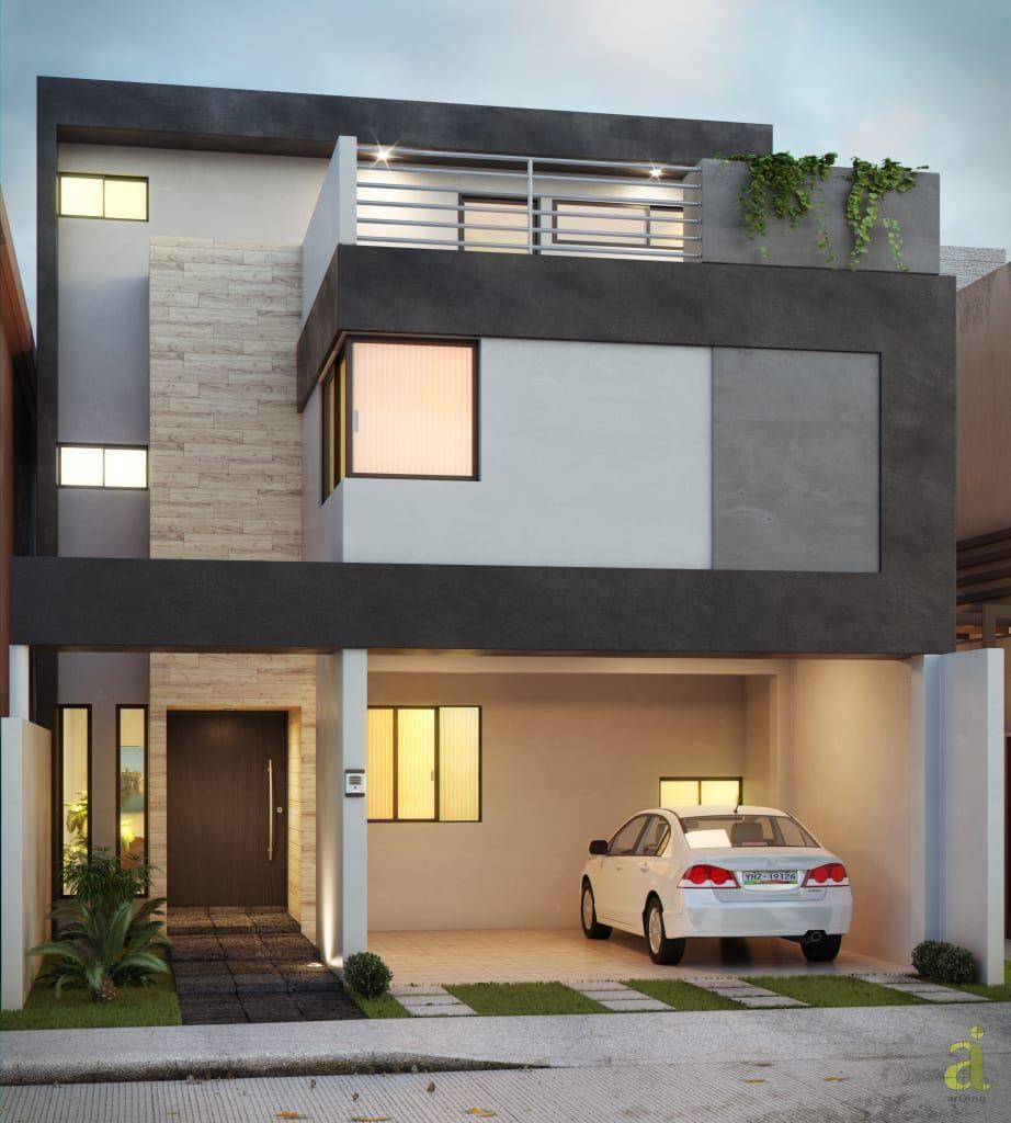 Casa residencial en lomas de la rioja casas de estilo for Foto casa minimalista