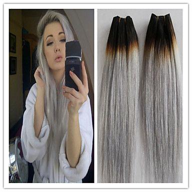 3pcslot brazilian straight virgin hair platinum grey hair 3pcslot brazilian straight virgin hair platinum grey hair extension human hair extensions silver grey pmusecretfo Image collections