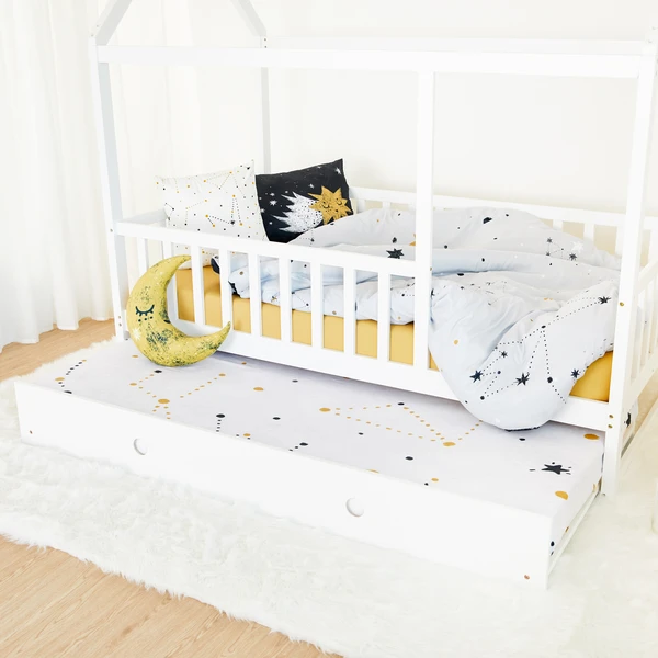 House Bed with rail WHITE Twin Size (preorder) Coco