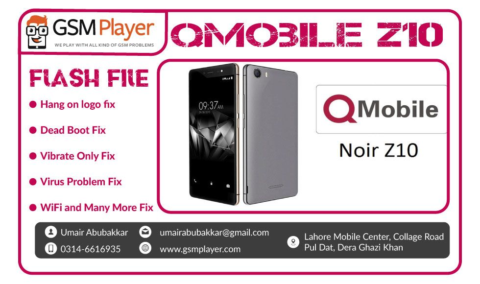 QMobile Z10 Firmware | Mobiles | Filing, Tools, Watches online