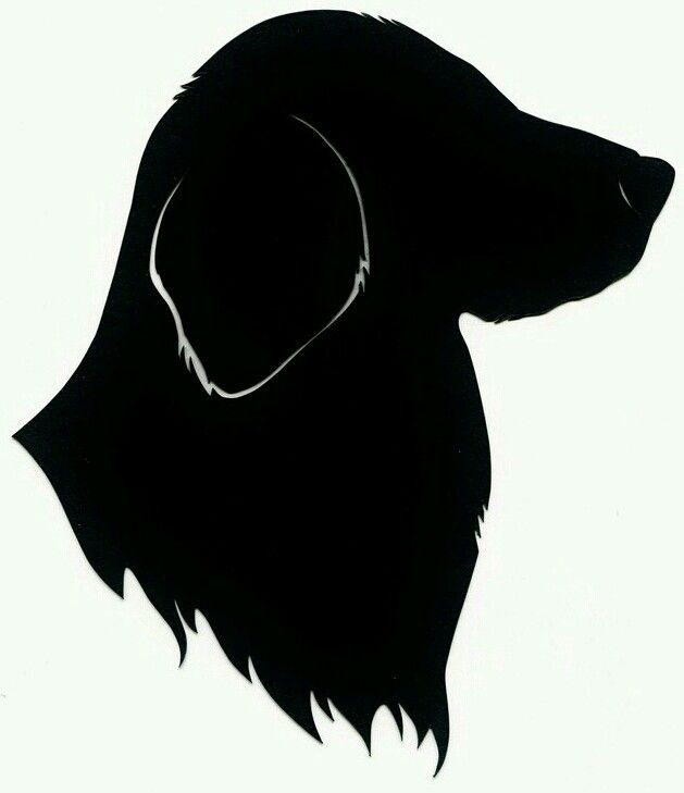 Lovely Labrador Head Silhouette Template Stencil Sjabloon To