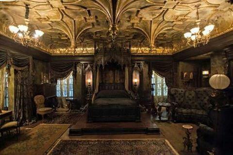 gothic bedroom from crimson peak