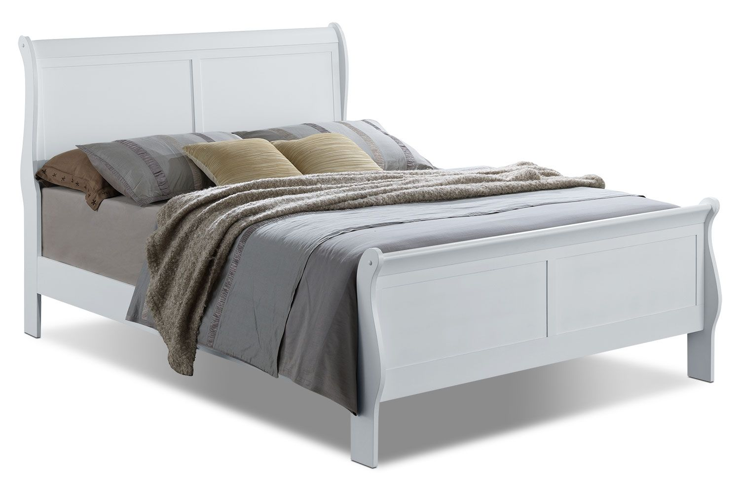 Bedroom Furniture Belleview Queen Sleigh Bed White