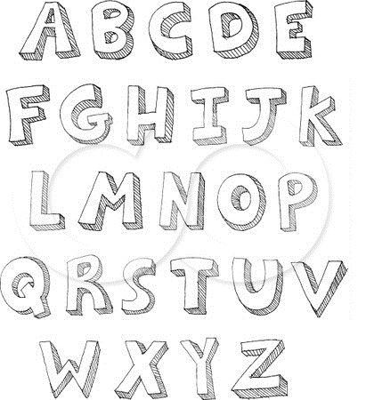 How To Draw Bubble Letters Art Drawing Pinterest