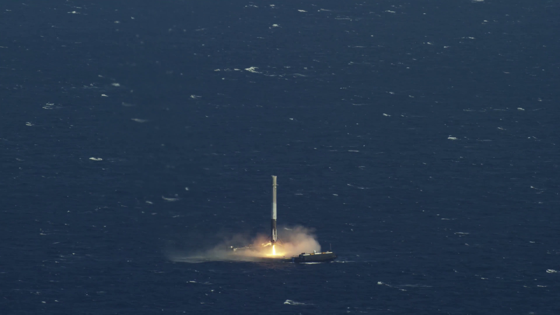 I extracted a frame from the SpaceX landing video now a