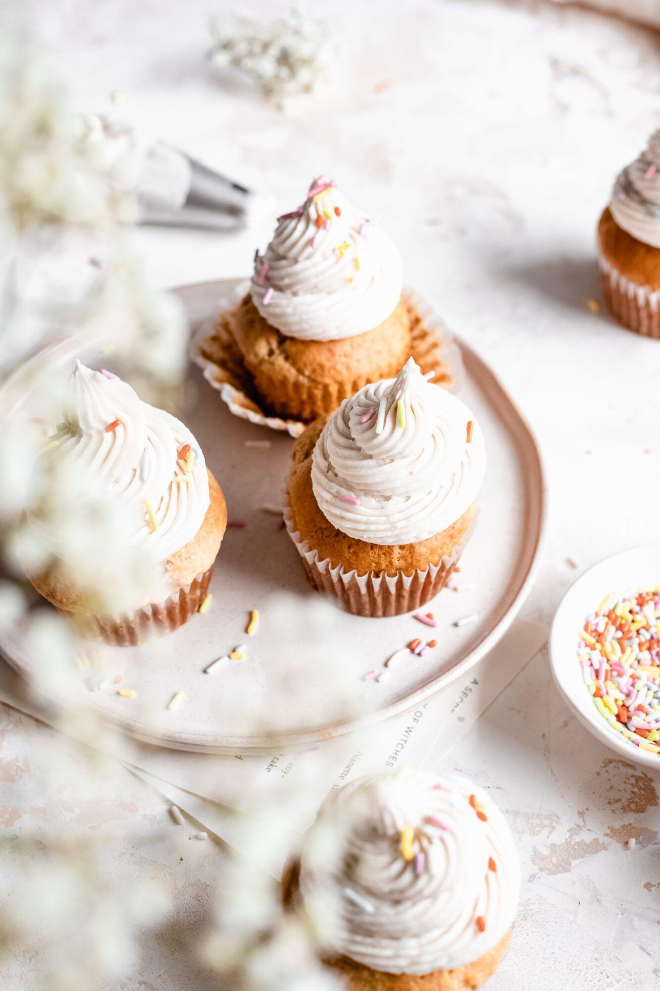 The Best Vegan Vanilla Cupcakes The Banana Diaries Recipe In 2020 Vegan Vanilla Cupcakes Vegan Frosting Gluten Free Vanilla