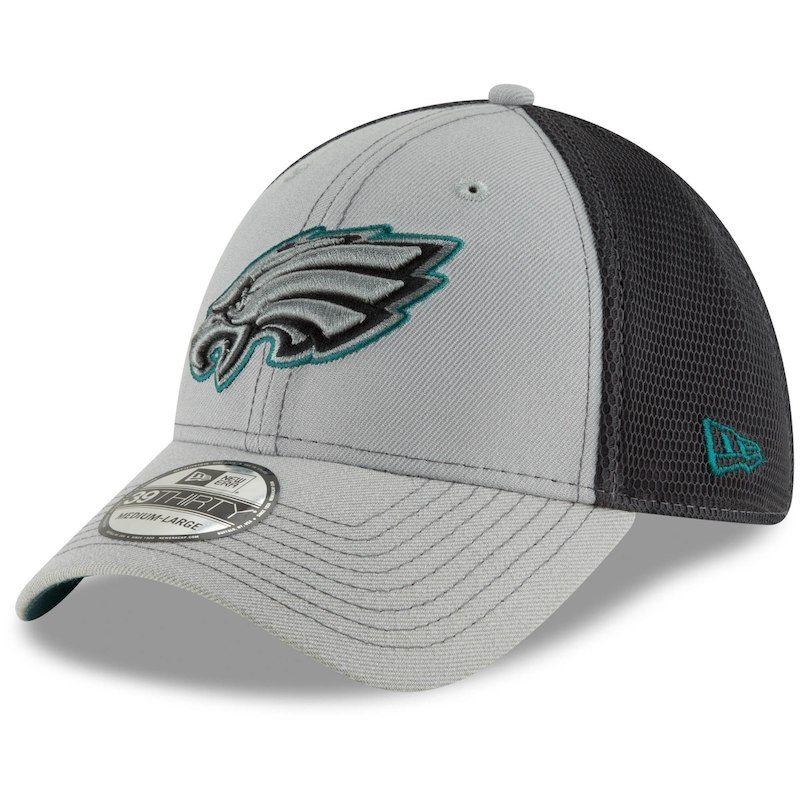 64bd4b1d Philadelphia Eagles New Era Two-Tone Sided 39THIRTY Flex Hat - Gray ...