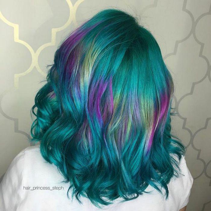 New Hair Trend Holographic Hair Hair Styles Curly Hair Photos