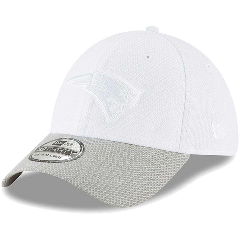 newest 4268f f0d07 New England Patriots New Era Tone Tech Redux 2 39THIRTY Flex Hat -  White Gray