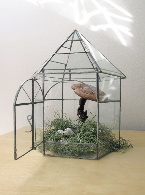 vintage greenhouse botanical garden glass terrarium mini. Black Bedroom Furniture Sets. Home Design Ideas