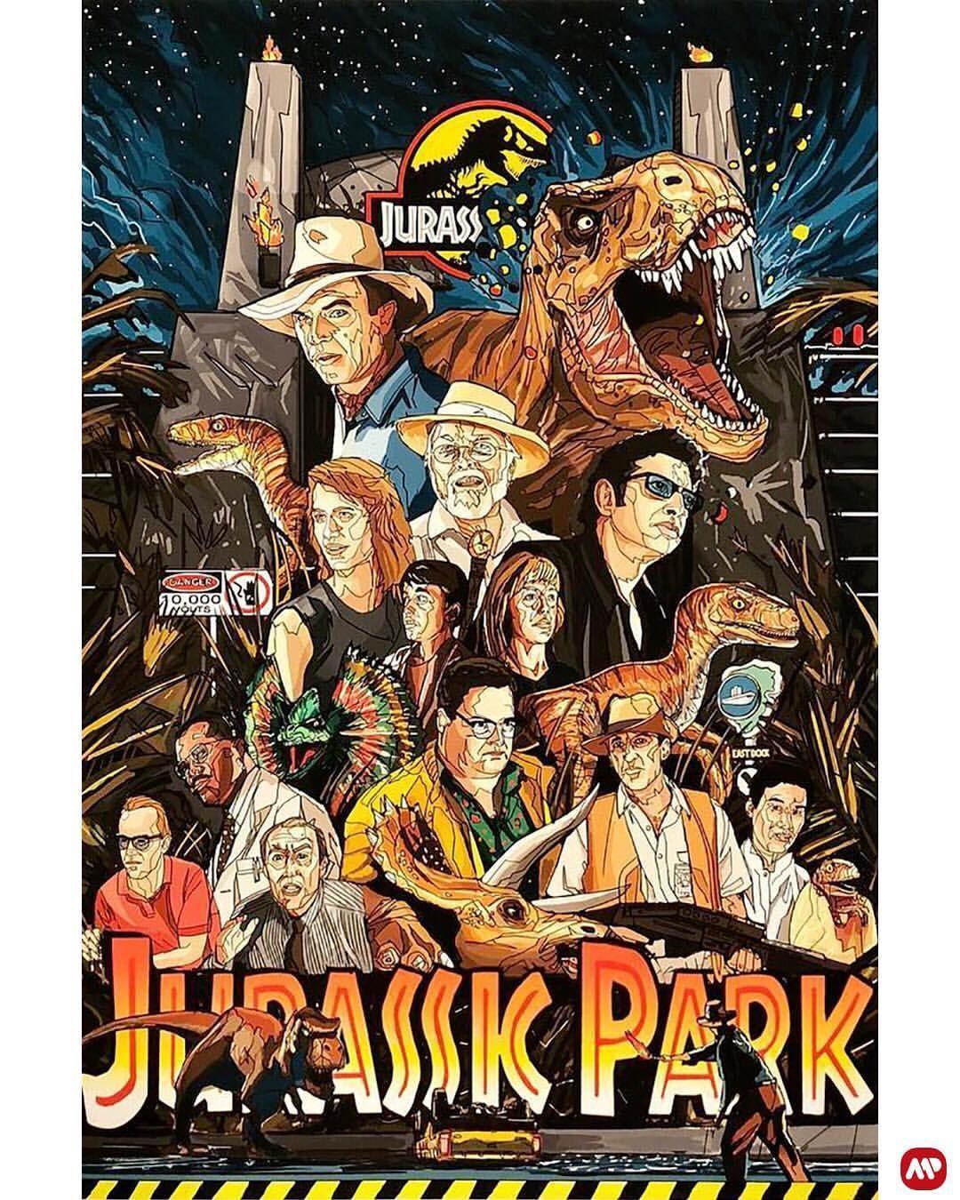 Jurassic Park by Tim Clinard @clinartstudios #jurassicparkworld Jurassic Park by Tim Clinard @clinartstudios #jurassicparkworld