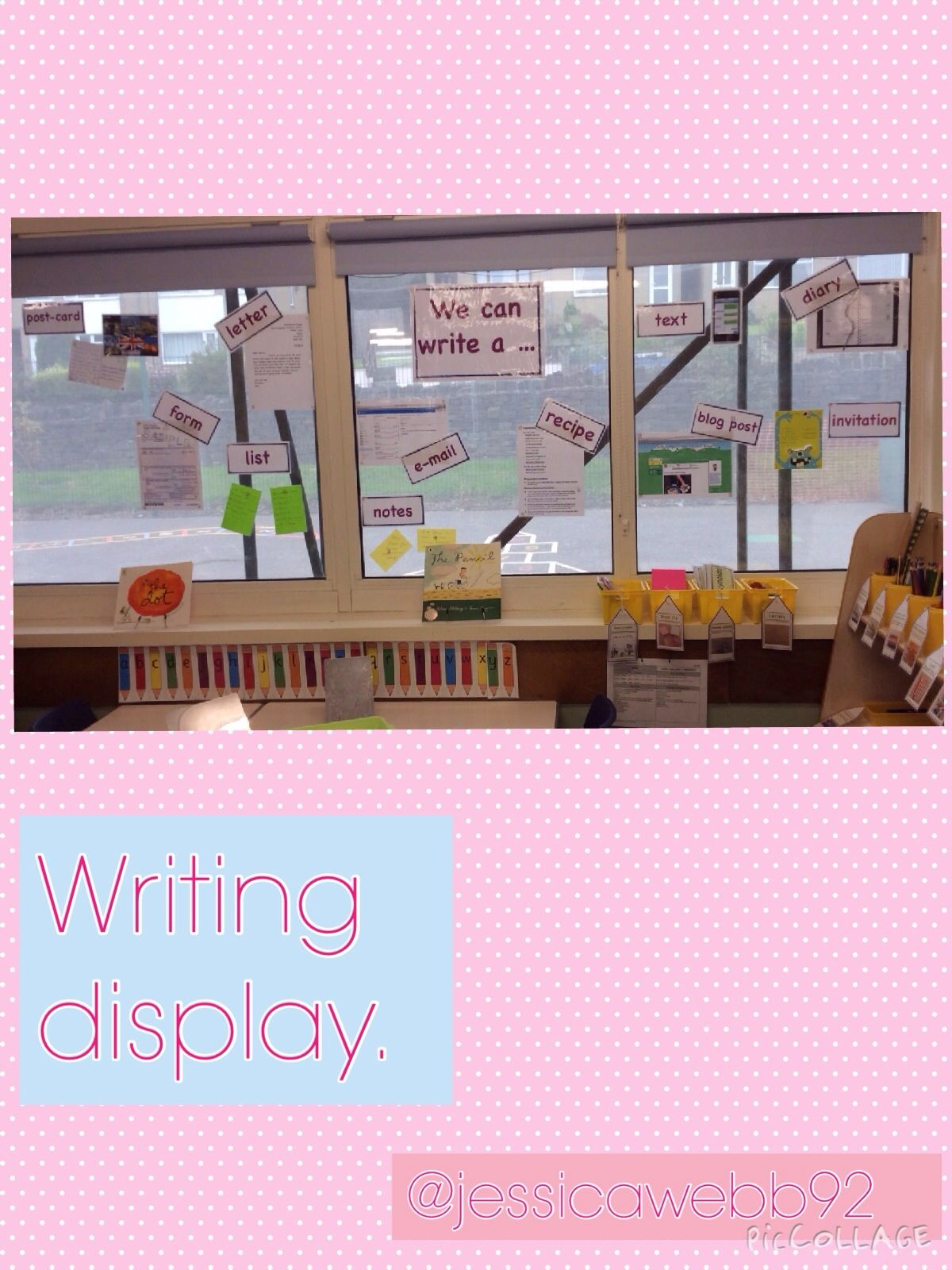 Writing area display we can write a early years classroom writing area display we can write a stopboris Image collections