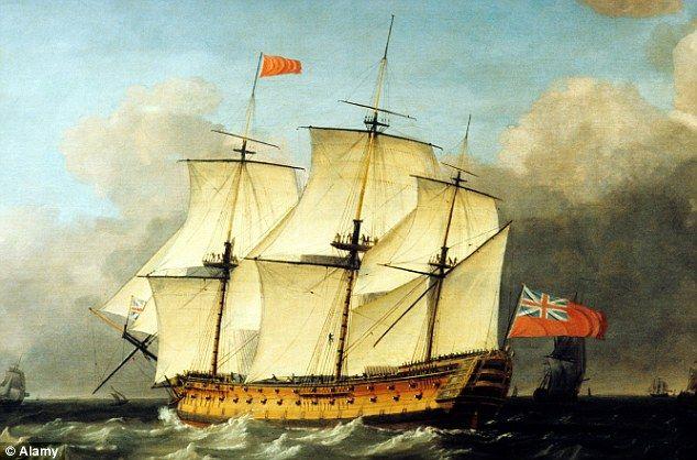 Kirkkaudessa päivää: Tämä maalaus 18th Century merenkulun taiteilija Francis Swaine näyttää kuinka HMS Victory näytti, kun se oli käytössä