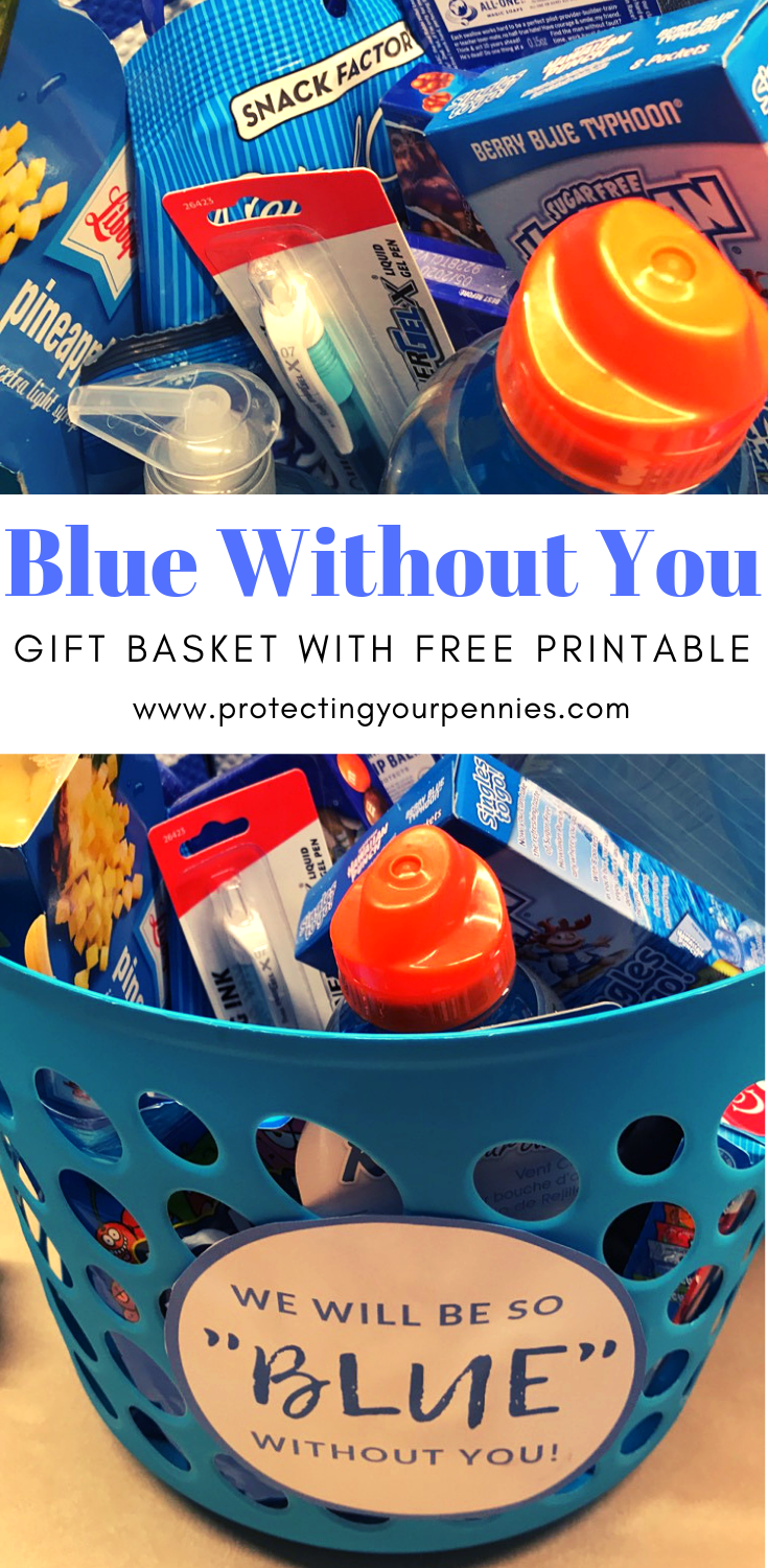 Blue Without You Gift Basket - Protecting Your Pennies #boyfriendgiftbasket