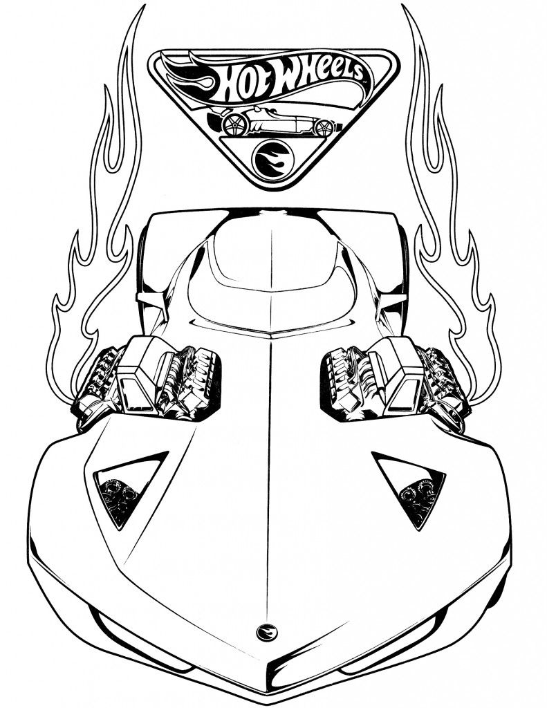 hot wheel coloring pages # 4