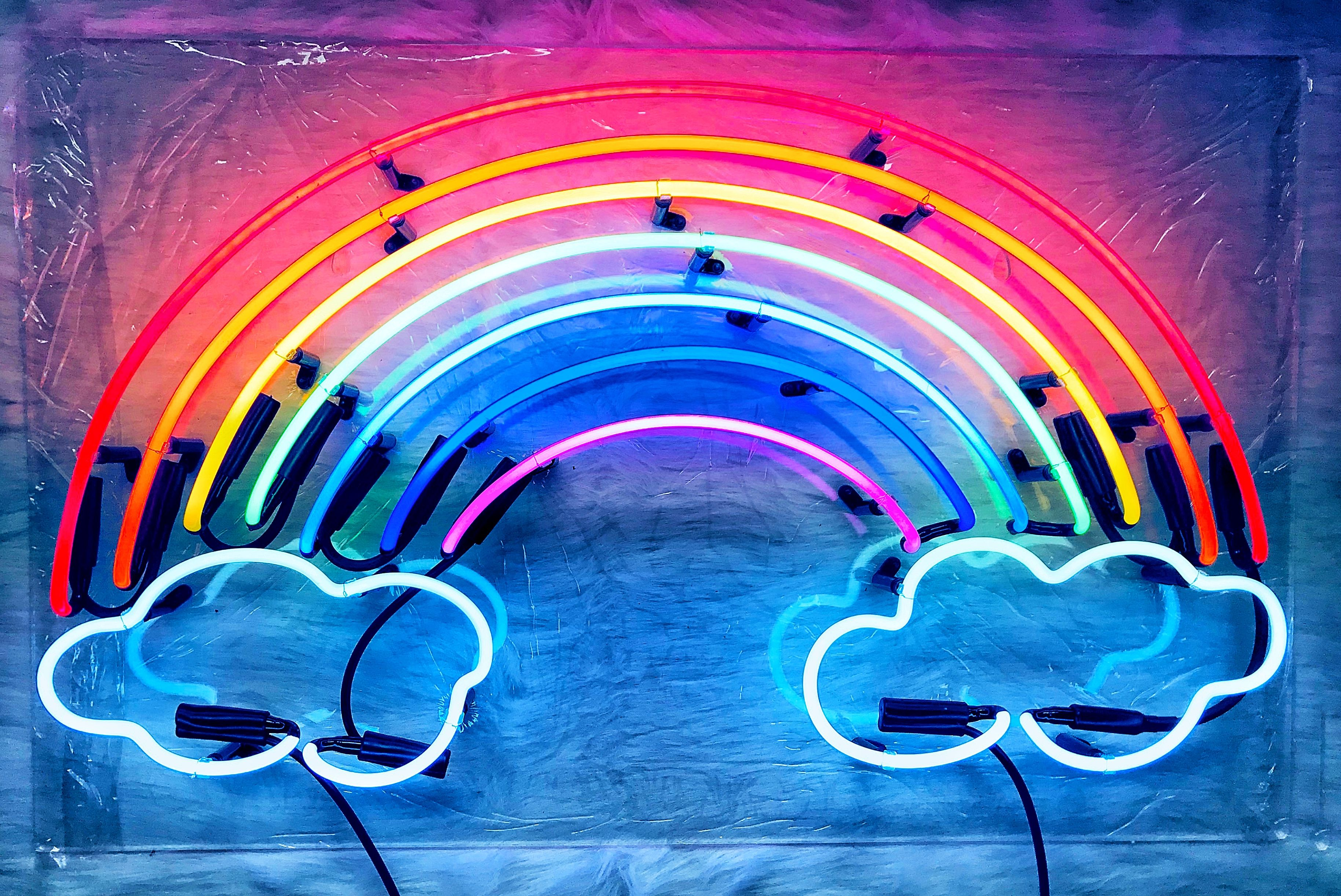 The promise of the rainbow glass neon sign by ...