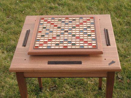 Scrabble Table And Board Gaming Table Diy Outdoor Scrabble Scrabble