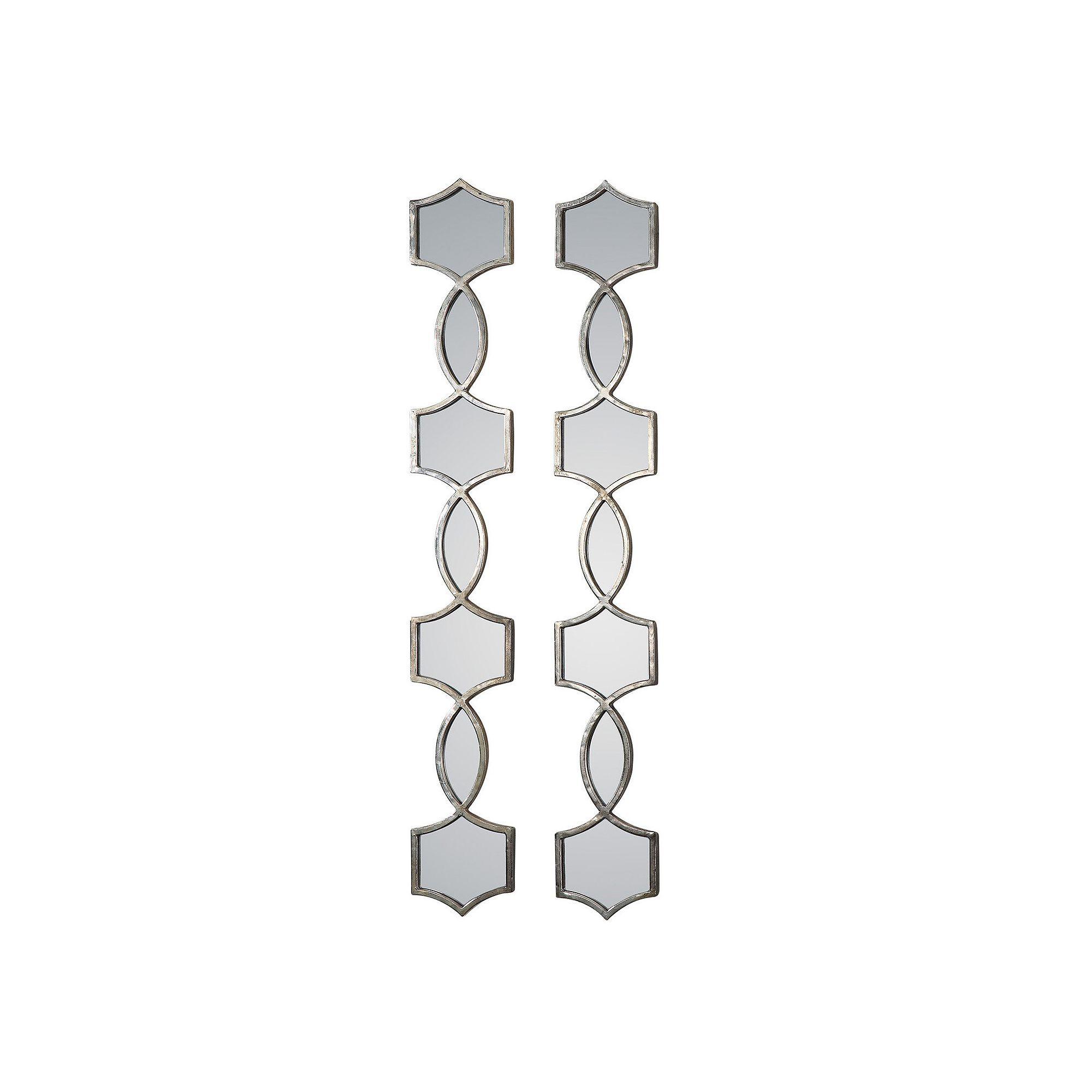 Vinzela 2 Piece Metal Wall Mirror Set