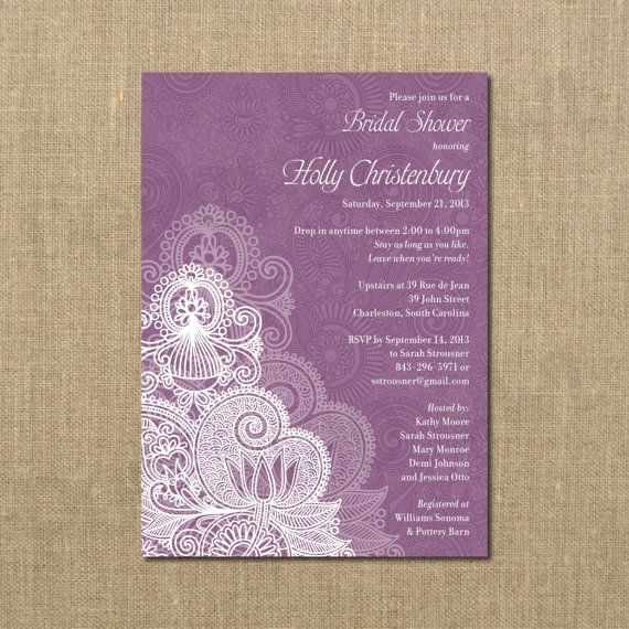 Drop In Come And Go Bridal Shower Invitation By Perchedowl On Etsy
