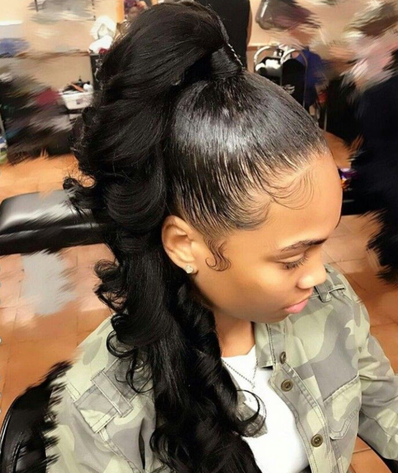 pin by destinee edwards on hair options   ponytail
