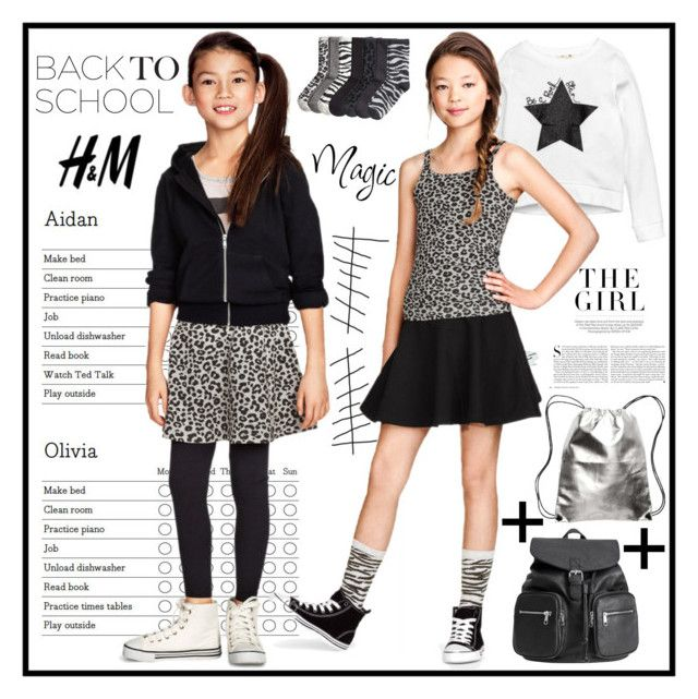 """""""H&M Back-to-School Ready Outfit"""" by yours-styling-best-friend ❤ liked on Polyvore featuring Kershaw and H&M"""