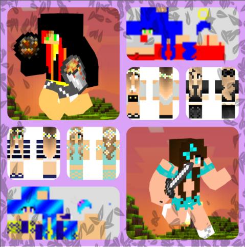A display of some skins I made/found minecraftskindisplay