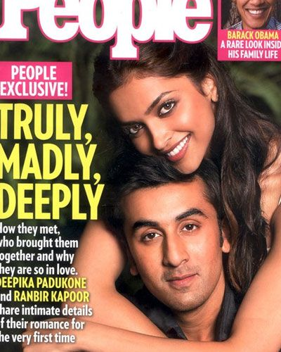 Ranbir Kapoor And Deepika Padukone People Magazine Deepika Padukone Bollywood Couples Cover Pics