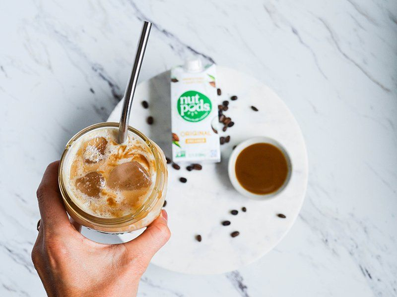 Iced caramel macchiato lowsugar nutpods dairyfree