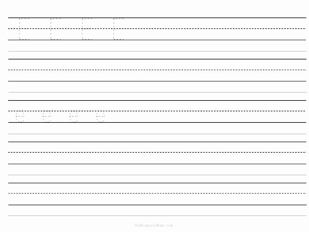 Handwriting Worksheets For Kindergarten Blank In