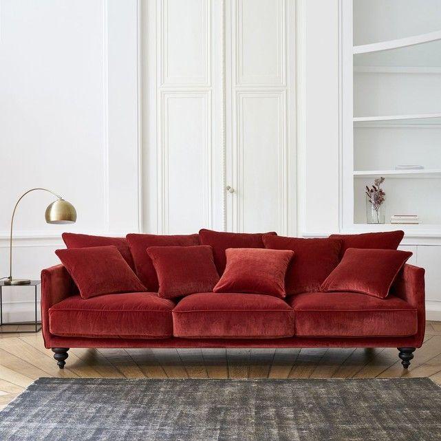 Canapé Fixe Lazare Mélange Viscose Deco Salon Living Rooms And - Canape tres design