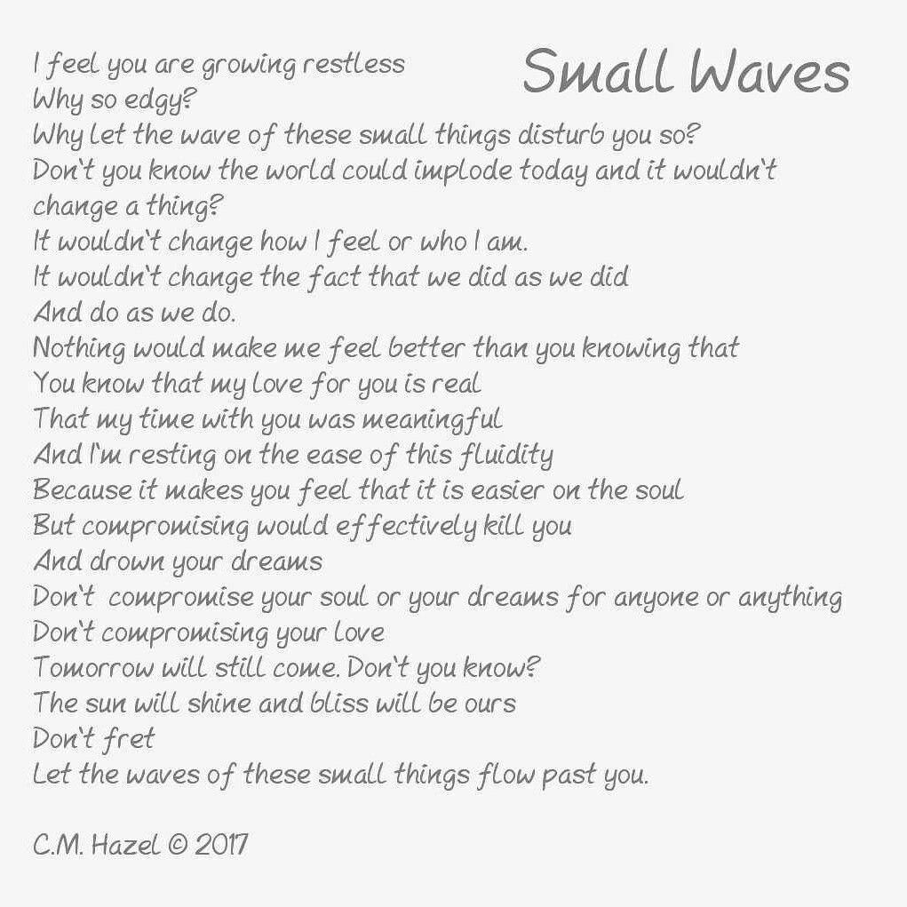 Small Wave New Book Coming Soon In Print Only More Poems New
