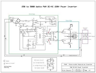 Build A 250 To 5000 Watts Pwm Dc Ac 220v Power Inverter Esquemas Eletronicos Amplificador De Audio Circuito Eletronico
