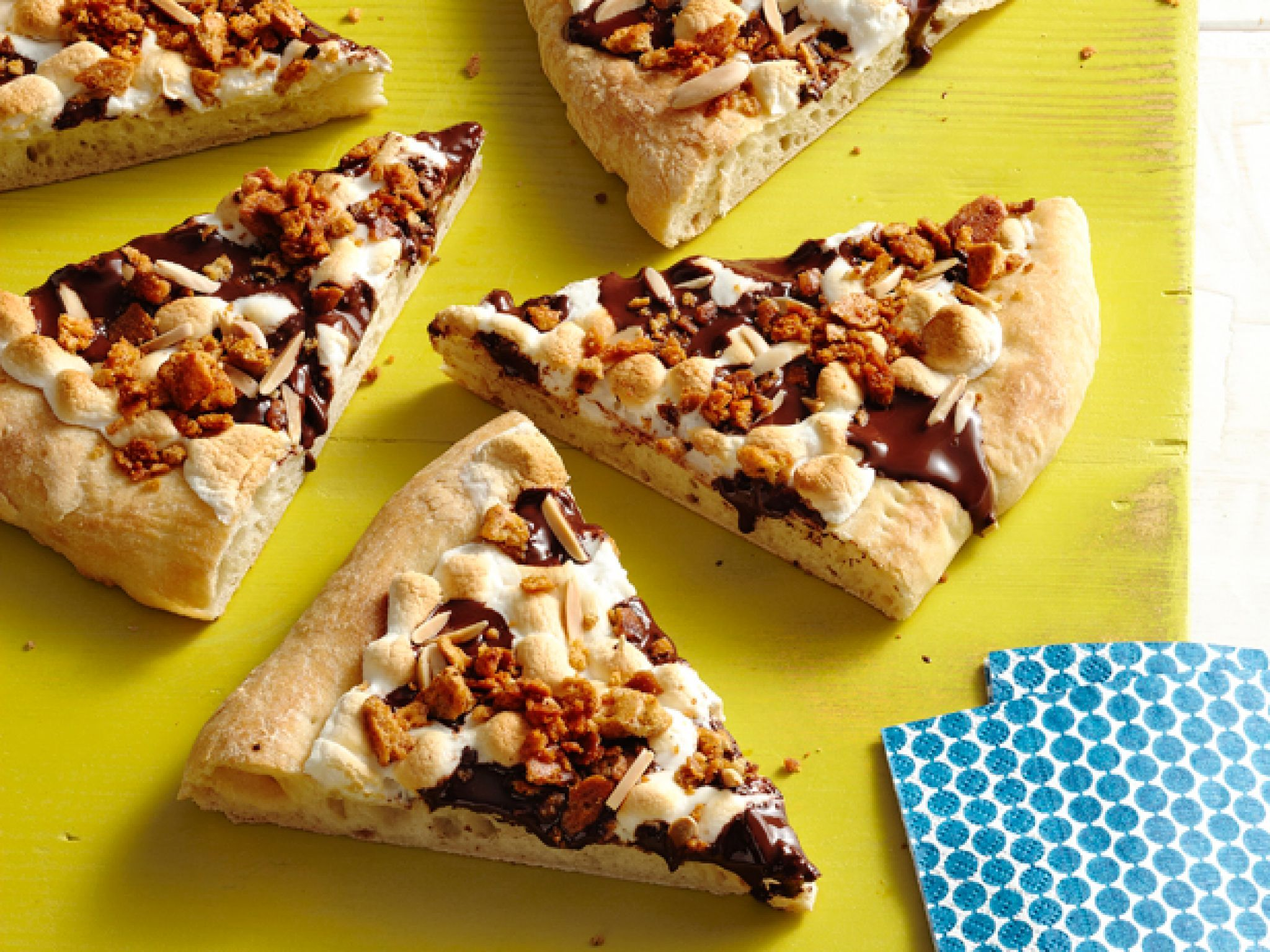 Super bowl dessert ideas food network guy fieri pizzas and cooking channel recipes guys smore pizza use store bought pizza dough to make guy fieris forumfinder Images