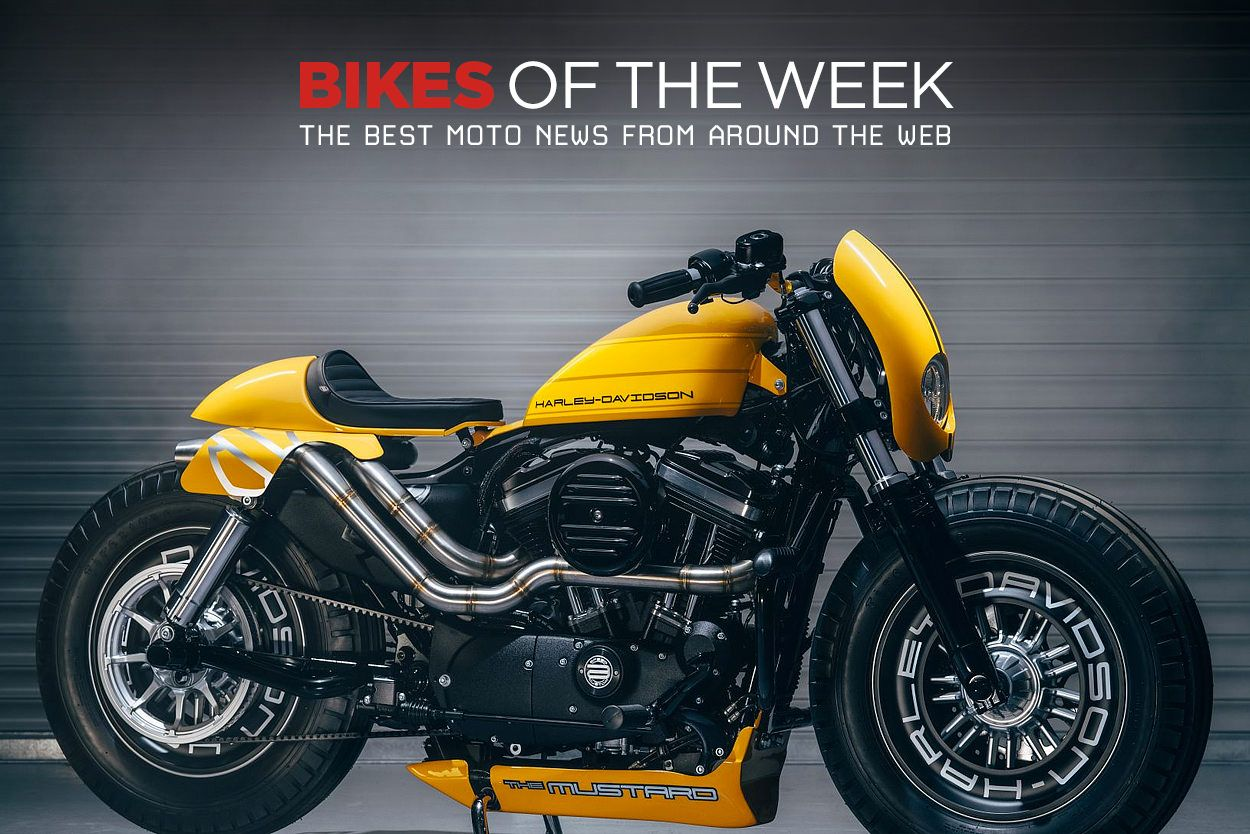 Custom Bikes Of The Week 27 January 2019 Harley Sportster 48 Sportster Cafe Racer Custom Cafe Racer