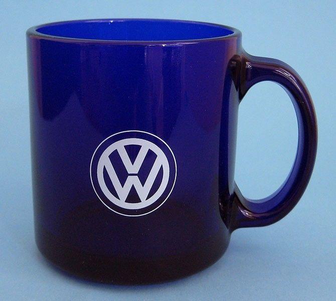 Cool Volkswagen 2017 VW Volkswagen Logo Glass Mug Cobalt Blue