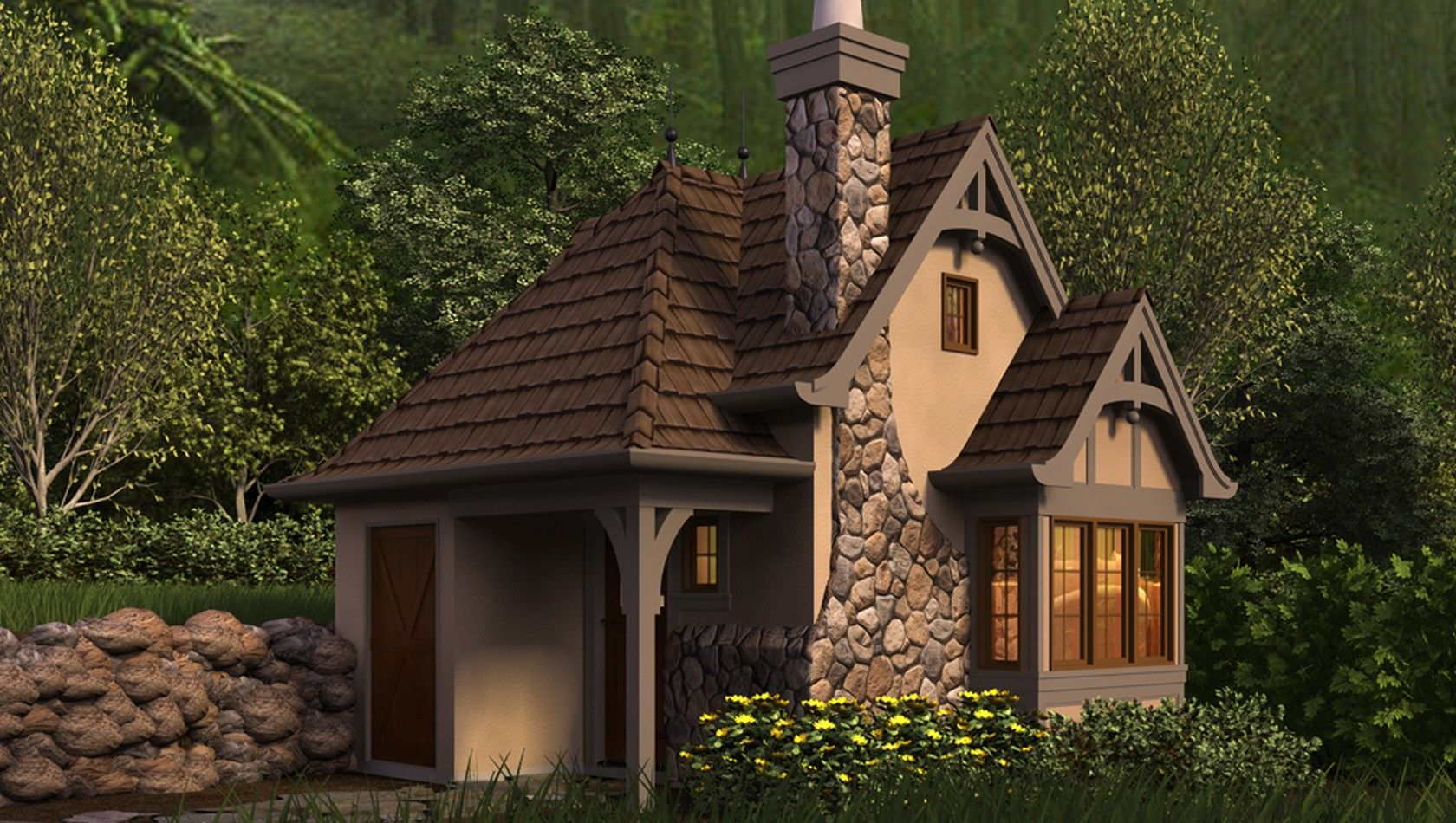 House plans storybook cottage image home and style for Cottege house