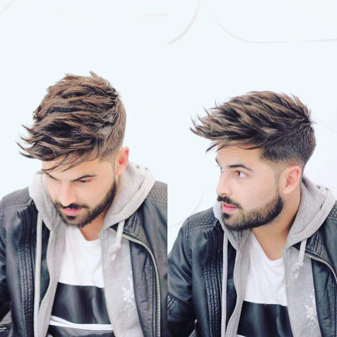 Get this Hairstyle: Undercut with Long Textured Spiky Fringe on ...