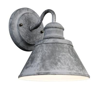 Hampton Bay 1-Light Outdoor Zinc Wall Lantern-HSP1691A at The Home Depot