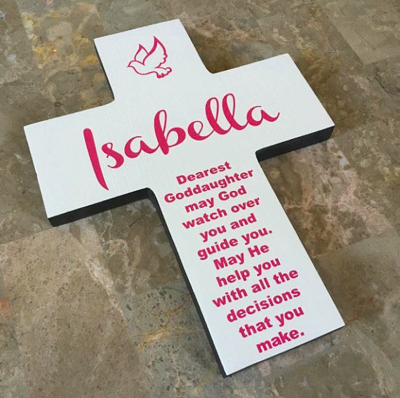 Goddaughter personalized wood wall cross dove and poem great goddaughter personalized wood wall cross dove and poem great gift for first communioneaster baptism or special day gift for girl negle Gallery